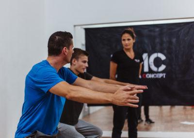 entrainement de krav maga concept, physique au poids de corps